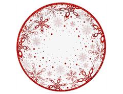 Тарелки Снежные Искры 17 см, 6 шт, 1 уп.