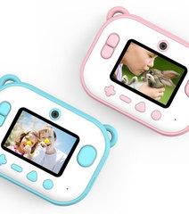 Детсикие фотоаппараты мгновенной печати розовые и голубые