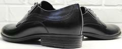 Мужская классическая обувь. Мужские туфли дерби Ikoc 3416-1 Black Leather.