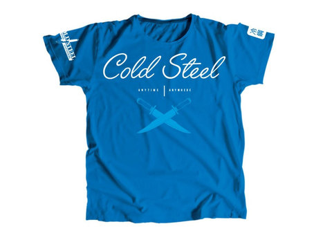 Футболка женская Cold Steel TK3 Cross Guard Blue Tee for Women (L), размер L