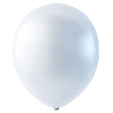 Шар Белый Металлик, 30 см