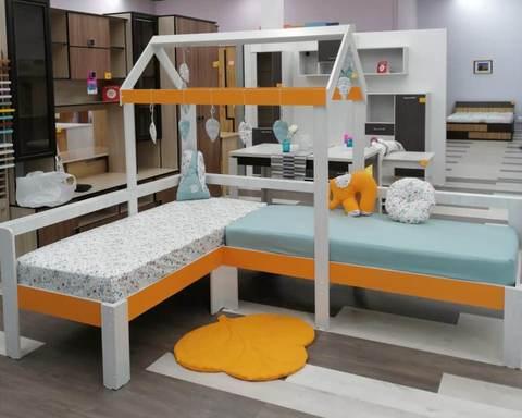 Кровать-домик АВАРА-1 правая