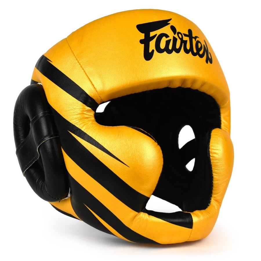 Шлемы Шлем Fairtex Headguard HG16M1 Yellow/Black 1.jpg