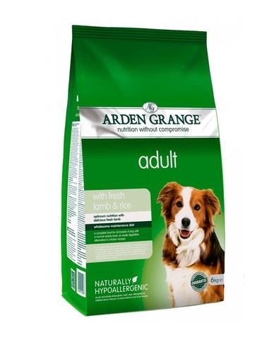 Arden Grange Adult сухой корм для собак с Ягненком и рисом 2 кг