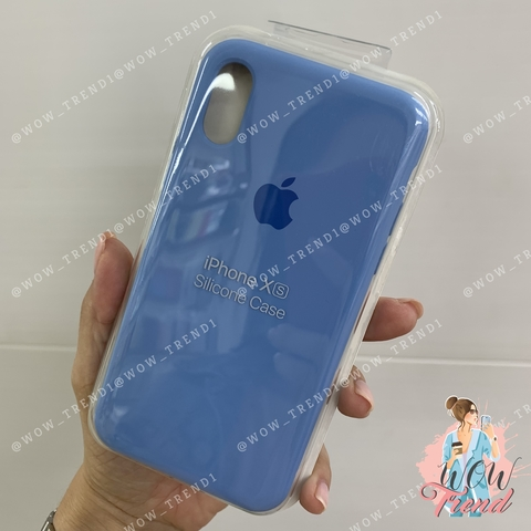 Чехол iPhone XS Silicone Case /cornflower/