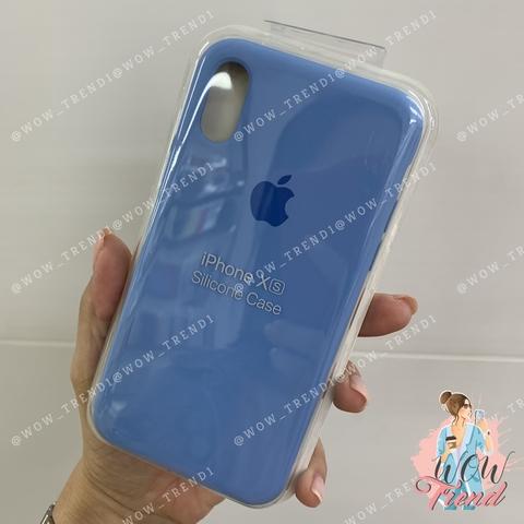 Чехол iPhone XS Silicone Case /cornflower/