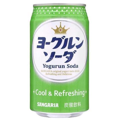 Лимонад Сангария 350 мл ЙОГУРТ Сода, Cool & Refreshing SANGARIA ж/б