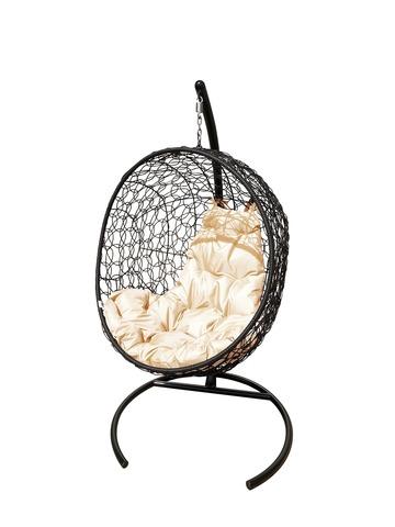 Кресло подвесное Porto black/beige