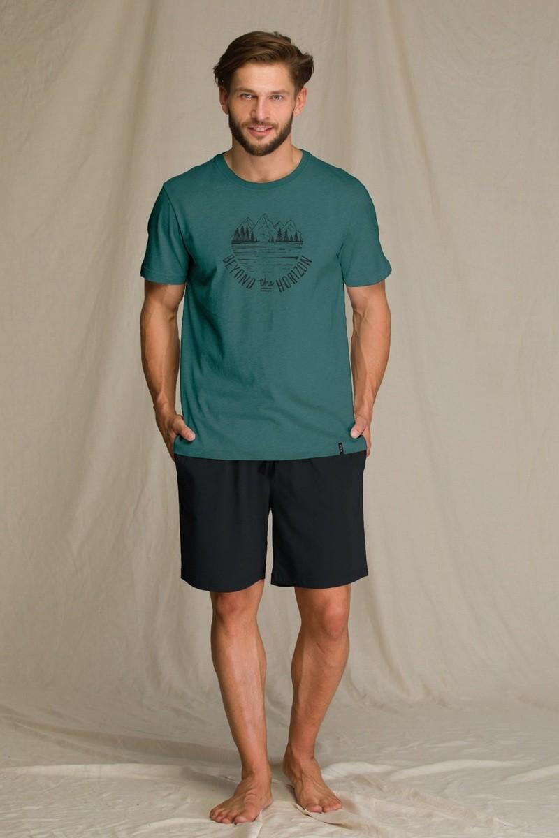 Пижама мужская с шортами из бамбука KEY MNS 709 A21