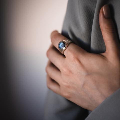 Кольцо IJEN с лабрадоритом
