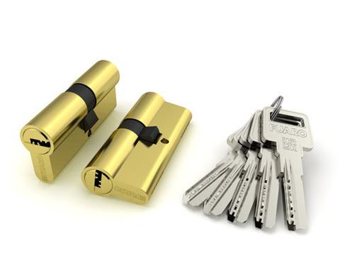 Личинка замка R600/80mm (35+10+35 или 40/40) Цилиндрич. механизм кл./кл. перфокарта