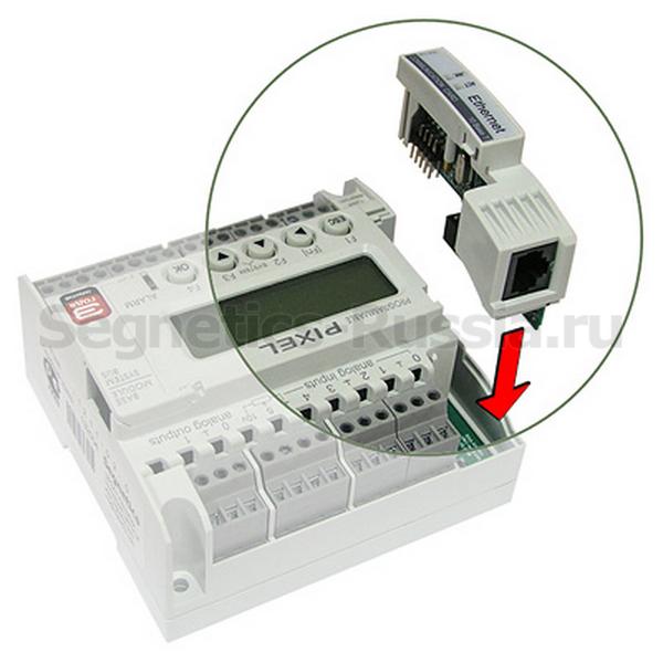 Установка сетевой карты в контроллер Segnetics Pixel