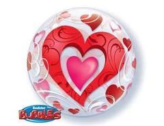 П Bubble 22 Сердца красные и Завитки