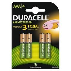 Аккумуляторы Duracell R03, AAA 750mAh (2/20)