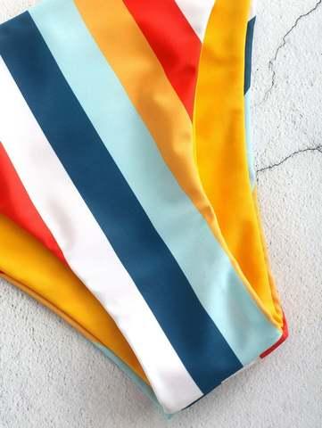 купальник бандо разlдельный желтый радуга Yellow-Rainbow 3