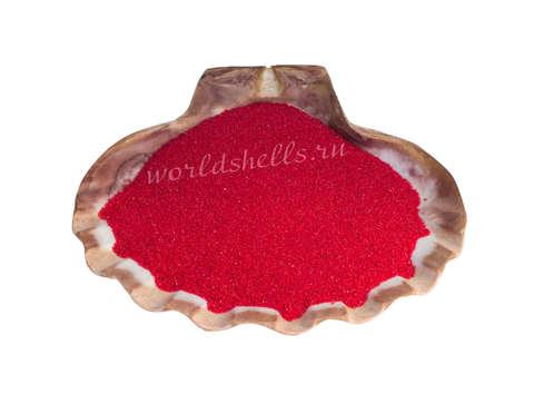 Красный кварцевый песок 1 кг.