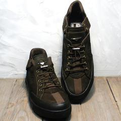Модные осенние кроссовки мужские Luciano Bellini 71748 Brown