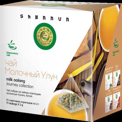 Чай зеленый SHENNUN Молочный улун в пирамидках 15 шт