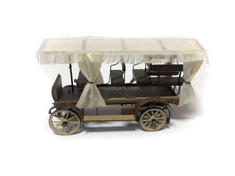 Russian Omnibus Frese model 1902 Handmade workshop 1:43
