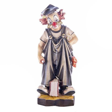 Деревянная статуэтка «Клоун - студент»