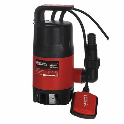 Дренажный насос QUATTRO ELEMENTI Drenaggio  400 F Promo(385 Вт, 6800 л/ч, для грязной, 4 м (910-461), шт