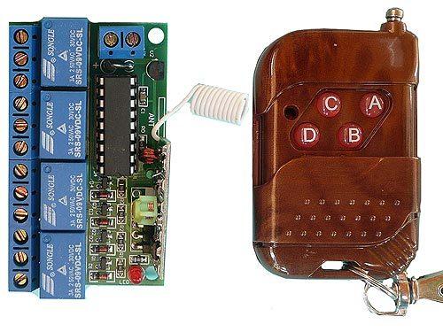 Выключатель дистанционный 4-х канальный ZB-4DKGD на радиочастоте
