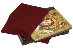 Инкрустированная икона Спас Нерукотворный 29х21см на натуральном дереве в подарочной коробке