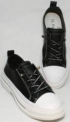 Повседневные кроссовки туфли женские летние El Passo sy9002-2 Sport Black-White.