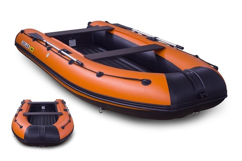 Надувная ПВХ-лодка Солар Оптима - 380 (оранжевый)