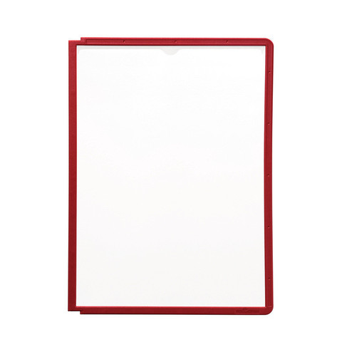 Панель для демосистемы Durable Sherpa А4 красная (5 штук в упаковке)