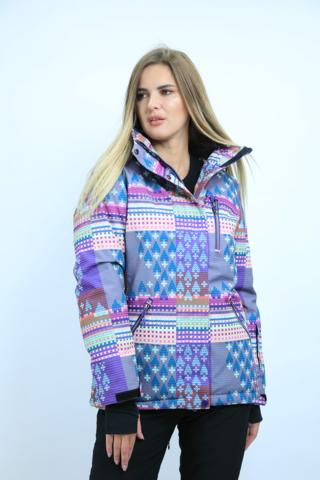 Куртка горнолыжная женская FREEFLY сиреневого цвета.