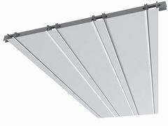 Комплект реечного потолка 1,7х1,7м для ванной комнаты белый жемчуг + вставка белый жемчуг