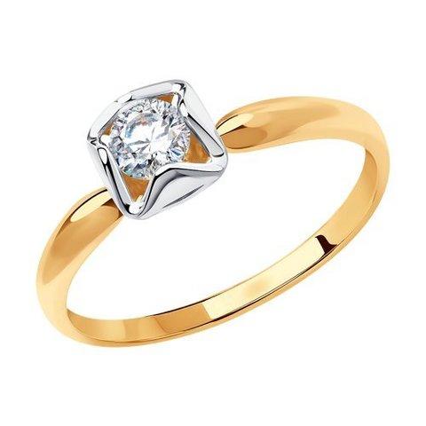 81010510 - Кольцо из золота с фианитом Swarovski