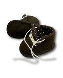 Ботиночки из фетра на подкладке - Черный. Одежда для кукол, пупсов и мягких игрушек.