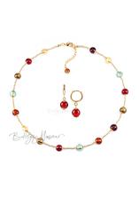 Комплект Carnavale Oro Piccolo (красные серьги Piccolo, ожерелье)