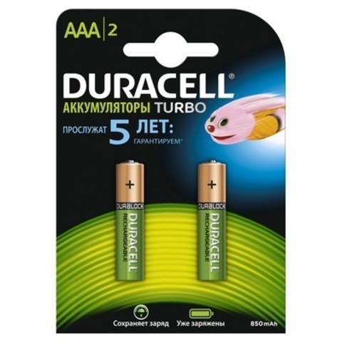 Аккумуляторы Duracell R03, AAA 850mAh (2/20) Pre