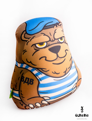 Подушка-игрушка антистресс Gekoko «Медведь-вдвшник» 3