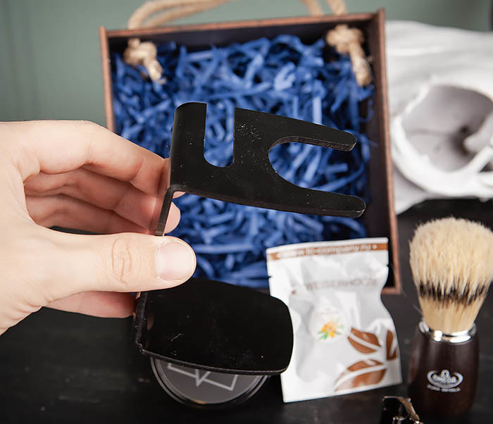 PSET104 Набор для бритья из станка, помазка, подставки и крема фото 05