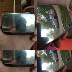 Полировка бокового зеркала пастой К2 Aluchrom