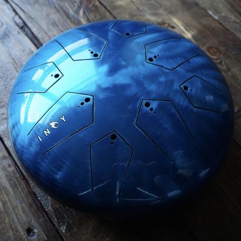 Глюкофон INOY Голубой лак Двусторонний Ø30cm