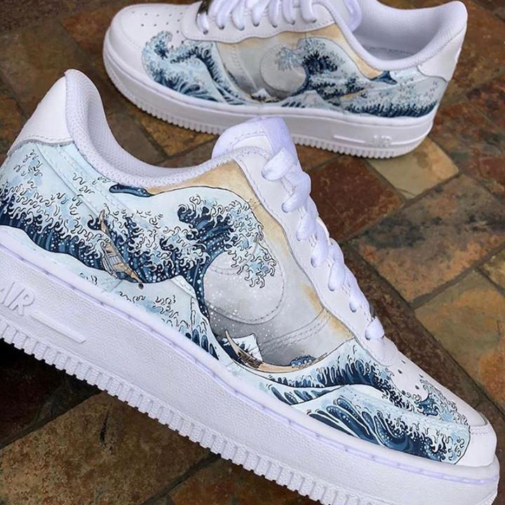 Nike Air Force 1 07 //  The Great Wave off Kanagawa