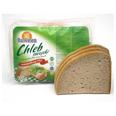 Хлеб низкобелк Chlebus swojski б/лактоз б/яйца 300г Balviten