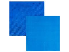 Салфетки фольгированные, Синий, 33 см, 6 шт, 1 уп.