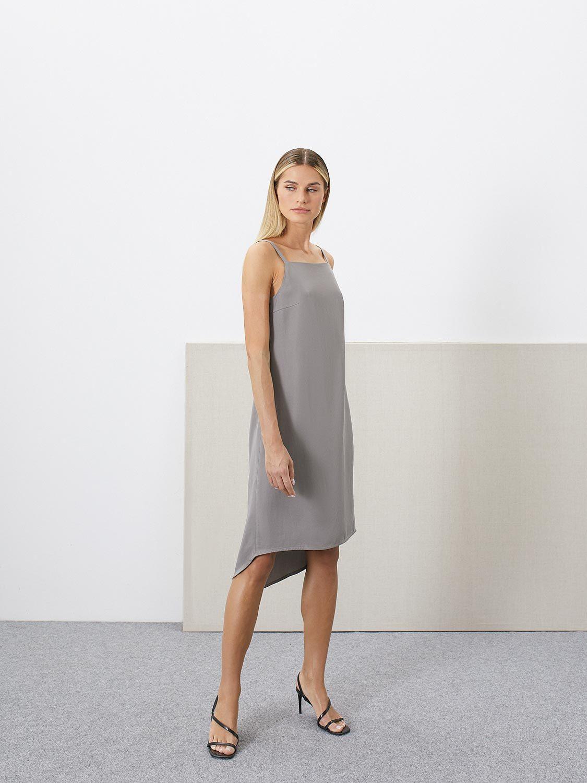 Платье Violet на бретелях с удлинённой спинкой