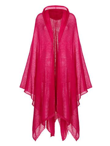 Женский шарф розового цвета из мохера и шерсти - фото 1