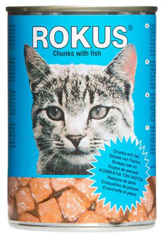Корм «Rokus» консерв. c рыбой 410г