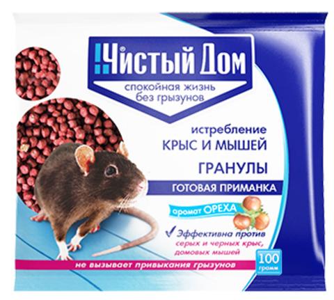 Гранулы от крыс и мышей с запахом ореха 100г