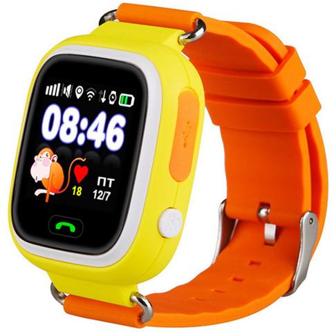 Умные часы детские Q90 | желтые