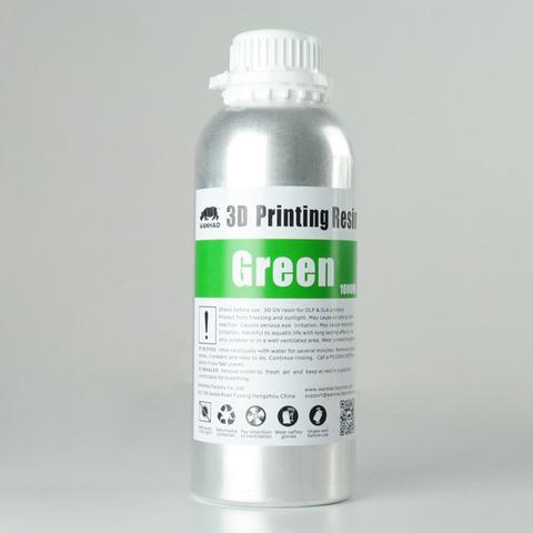 Фотополимер Wanhao Standard Resin, зелёный (1 л)