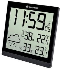 Метеостанция (настенные часы) Bresser TemeoTrend JC LCD, черная